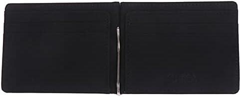 DTTBlue 1PCS Fashion Men Wallet Purse Korea Style Money Clips Ultrathin Slim Wallet Mini Leather Wallet ID Credit Card Cases - black