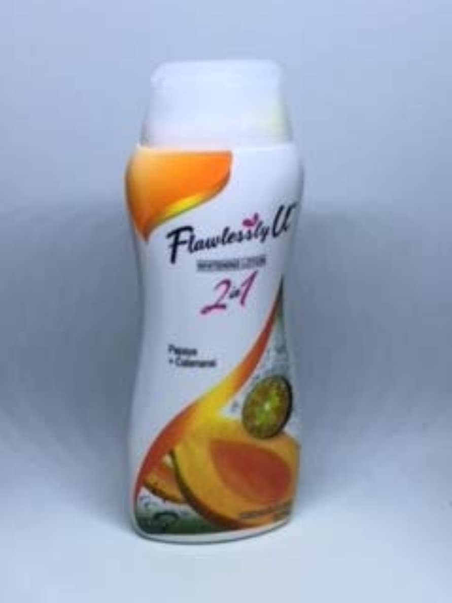 パドル液体アルファベットFlswlessly U Papaya&Calamansi 2in1 Whitening Lotion 100ml
