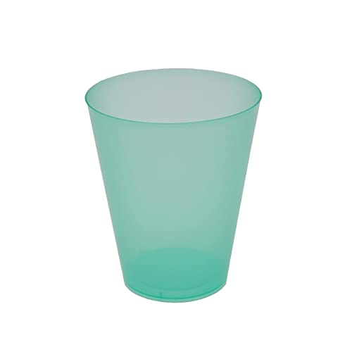 8around 25 Vasos plástico duro flexible reutilizable libre de BPA de 470ml, verde translucidos,especial coctel mojito cubata agua sidra para fiestas camping playa picnic barcos hogar