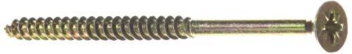 Index TPPO60100 - Tornillo tirafondo pozidriv bicromatado cabeza 90 avellanada lubrificado 6,0 x 100