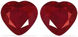 GemsNY 0.97 cttw. Natural Heart Pair Matched Kansas City Mall Ruby Direct sale of manufacturer