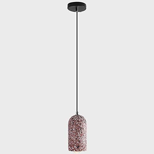 CHENBAI LED 5W Vintage Concreto Luz Colgante Terrazzo Sombra Pequeña Lámpara Colgante Colgante Nórdica Creativa Lámpara Colgante de Cemento de Altura Ajustable Restaurante Cafetería LoftBar