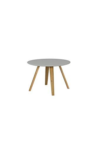 TENZO 3755-012 Lola-Tavolino da Salotto, 40 x 60 cm (Altezza x Diametro), Colore Quercia, Grigio/Rovere, Verniciato