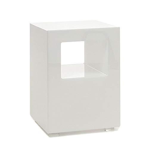 Wink Design, Galaxy, Tavolino Luminoso, Bianco Opaco, 30 x 30 x 42 cm