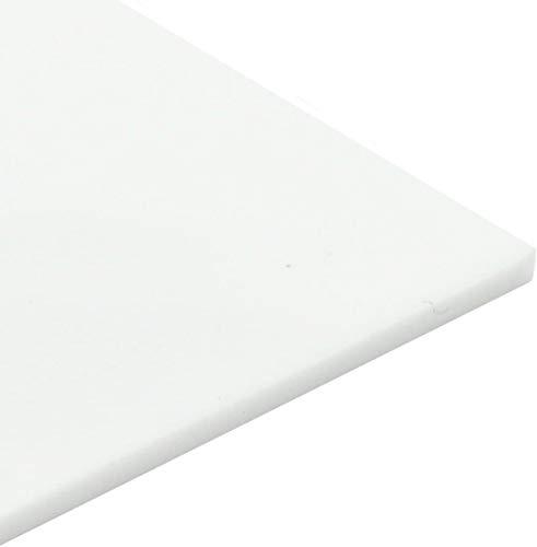 MHUI Plexiglas Transparent Weiß Hochglanz Acryl Kunststoffplatte Dicke 5mm, 2 Stück, Verwendet Für Handgefertigte Projekte (7,9 Zoll X 7,9 Zoll)