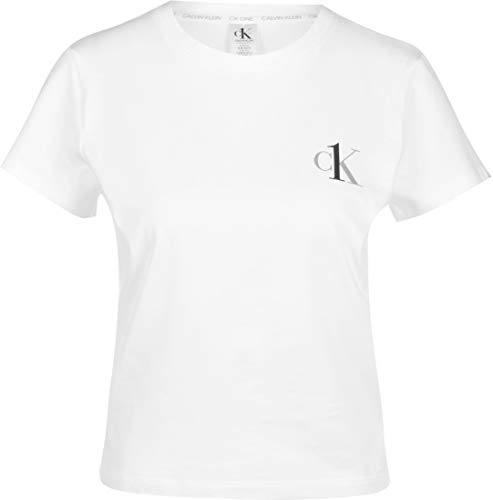 Calvin Klein Ck One Lounge Kurzarm Crew Hals T-Shirt - Weiß Medium