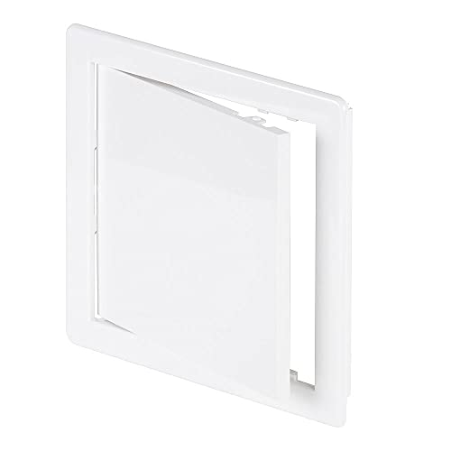 6' x 6' White Plastic Access Panel. Service Shaft Door Panel. Plumbing, Electricity, Heating, Alarm Wall Access Panel for Drywall. Bathroom Services Access Hole Cover.