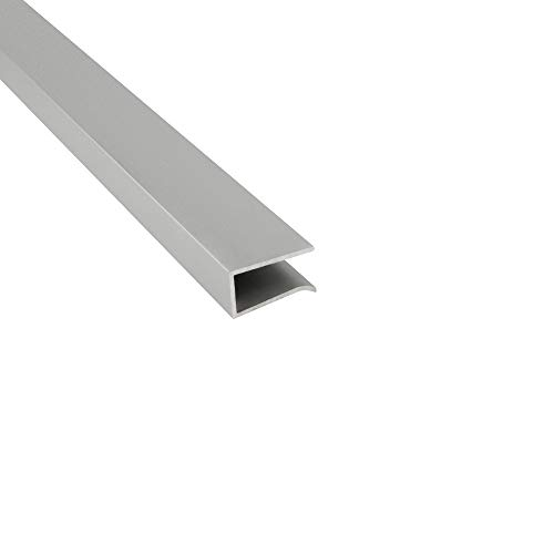 G03 LED Glaskantenprofil Kühlprofil Silber 2m