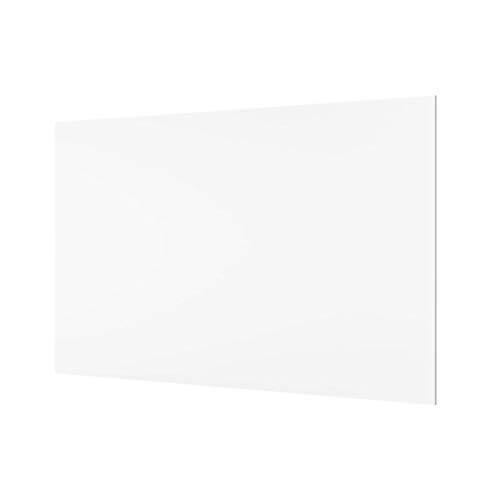 Spritzschutz aus Glas, ca. 800 x 400 x 4 mm, Farbe: weiß/frosted