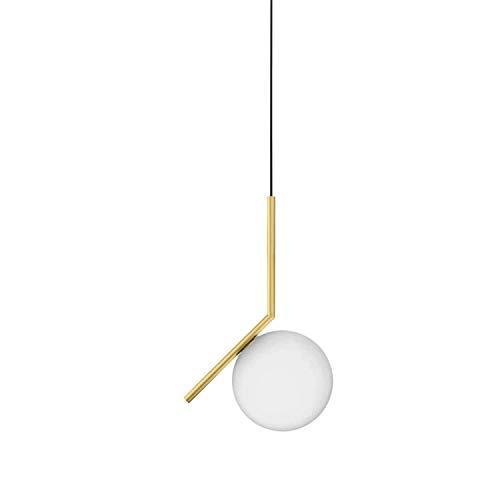Lámpara colgante de latón cepillado, colección Ic, versión S1, bombilla E14, 60W, 20 x 20 x 317 centímetros, color latón (referencia: F3175059)