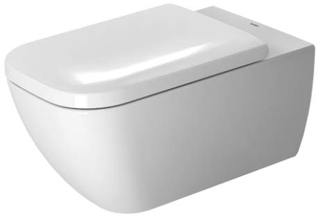 Duravit Wand-WC Happy D.2 620 mm Tiefspüler, rimless, Durafix, weiss WonderGliss, 25500900001