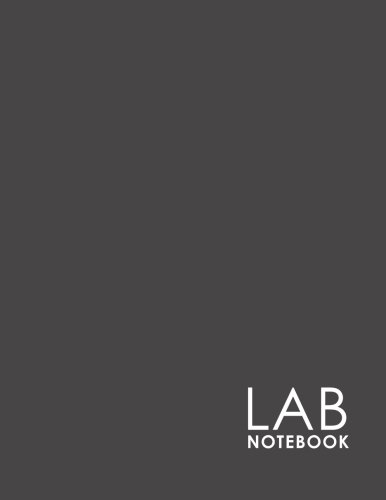 Lab Notebook: Lab Journal Log Book with Graph Paper / Grid Paper for Student, Research, College, Hypotheses, Experiments and Initial Analysis, Minimalist Grey Cover