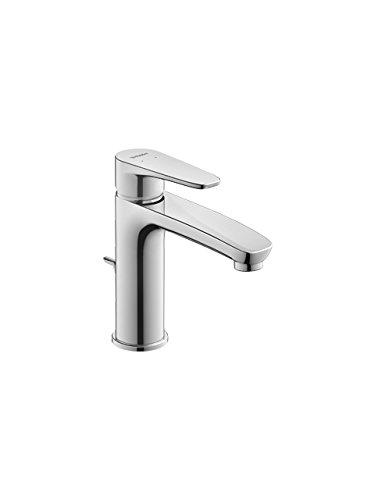 Duravit B11020001 wastafelmengkraan/wastafelmengkraan B.1, maat M | armatuur met keramische cartridge, afvoer en flexibele aansluitingen | ontlading: 139 mm, werkdruk: 3-5 bar, chroom
