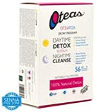 OTEATOX All Naturel Detox Tea 28 Day Program Daytime Detox with Selenium and Night-time Cleanse Naturally no Gluten Estimated Price : £ 16,49