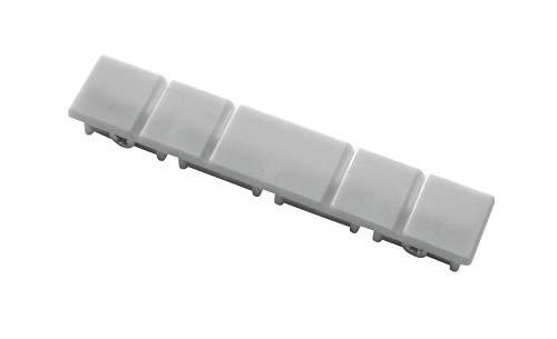 Gardinia Klöckner Endkappen (2 Stück) für 4-läufige Flächenvorhangschienen, Aluminium, Nicht Zutreffend, 91-904704