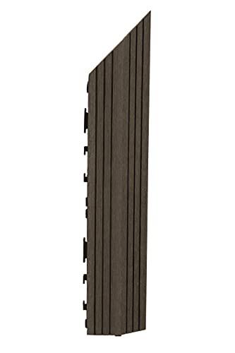 Decko - Azulejos de madera compuesta (37 x 7 cm), color marrón