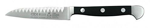 Güde Buntschneidemesser ALPHA Serie Klingenlänge: 9 cm POM schwarz, 1704/09| Messer - Geschmiedet - Solingen, Gemüsemesser - scharf - langlebig - klein - hochwertig