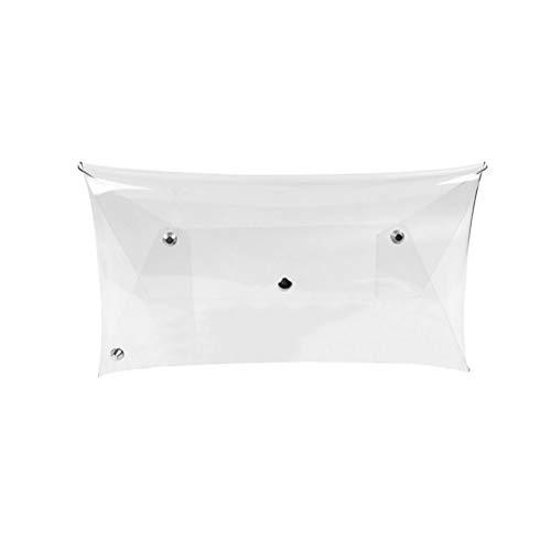 TENDYCOCO Bolso de sobre transparente transparente transparente Tarde de embrague para la fiesta de bodas