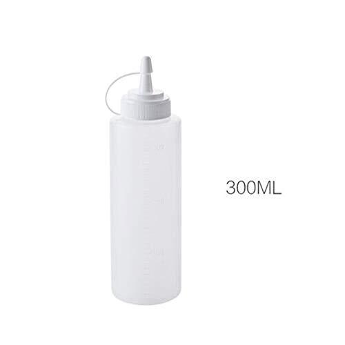 Food Grade Plastic Knijp Fles Saus Fles Ketchup Jam Mayonaise Olijfolie Dispenser Fles Keuken Accessoires 300ml