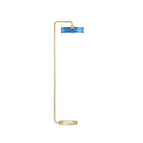 Nuokix Stehleuchte Helle Art und Weise aushöhlen Metall Stehlampe LED-Chip Kreativ Wohnzimmer Schlafzimmer Vertical Blue Stehlampe Haus Dekoration