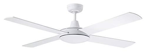 Martec | Ventilador de Techo Lifestyle con Motor AC | 4 Aspas | Incluye Control a Distancia | Consumo A+ | No Incluye Luz | Color del Ventilador Blanco