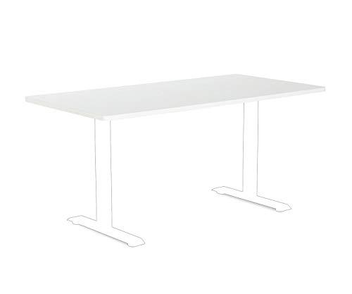 ESMART Germany TPL-168W stablie Schreib-Tisch-Platte aus MDF [Größenauswahl] 160 x 80 x 2,5 cm - Weiß | Kratzfest, PVC-beschichtet, pflegeleicht, Bürotischplatte belastbar bis 120 kg