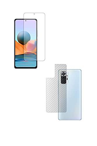 【2枚組(画面+背面)】ClearView(クリアビュー) Xiaomi Redmi Note 10 Pro 用 液晶保護フィルム 清潔で目に優しいアンチグレア・ブルーライトカットタイプ+カーボン調 背面保護フィルム 日本製