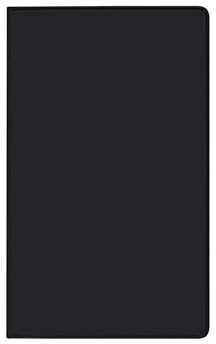 Taschenkalender Saturn Leporello PVC schwarz 2022: Terminplaner mit gefalztem Monatskalendarium. Dünner Buchkalender - wiederverwendbar. 1 Monat 2 Seiten. 8,7 x 15,3 cm