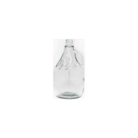 Garrafa de cristal 3 litros con tapón de rosca y asa.