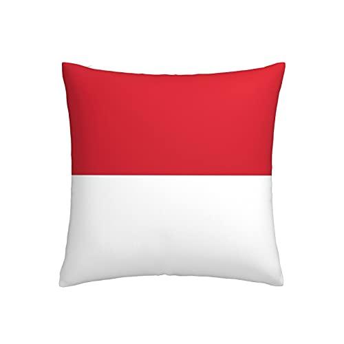 Kissenbezug mit Flagge von Indonesien, quadratisch, dekorativer Kissenbezug für Sofa, Couch, Zuhause, Schlafzimmer, Indoor Outdoor, niedlicher Kissenbezug 45,7 x 45,7 cm