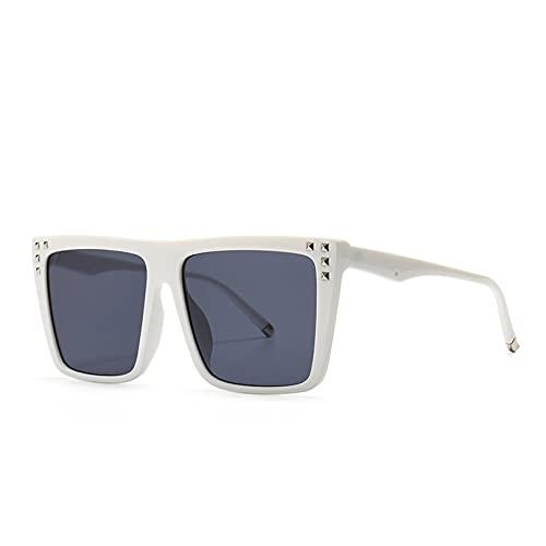 SXRAI Moda Gafas de Sol de Gran tamaño Mujeres Hombres Gafas de Sol Gafas cuadradas,C5