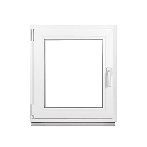Premium Kellerfenster Von Fenstiger - Kunststofffenster Weiß BxH 600 x 500 mm - Garagenfenster/Gartenhaus Fenster BxH 60 x 50 cm 2-fach Verglast - Din Links-Funktion Dreh Kipp Fenster-Alle Größen