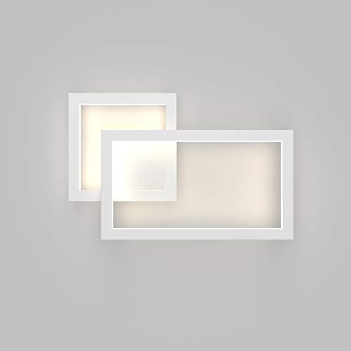 Klighten LED Wandleuchte,28W,1960LM,Mordern Wandlampe Innen,230V Natürliches Weiß 4500K,Dekorative Wandleuchten Nachtlampe Für Schlafzimmer, Wohnzimmer;Weiß