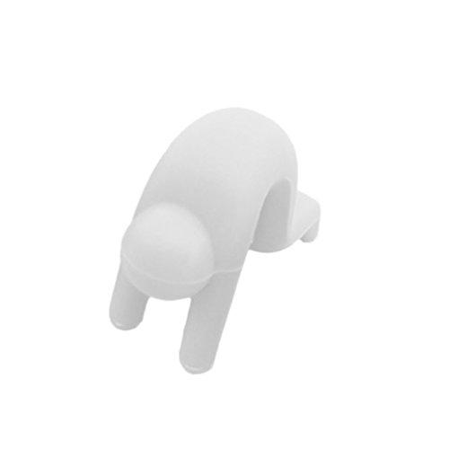 Ndier - Tapa de Silicona antiderrames, Color Blanco
