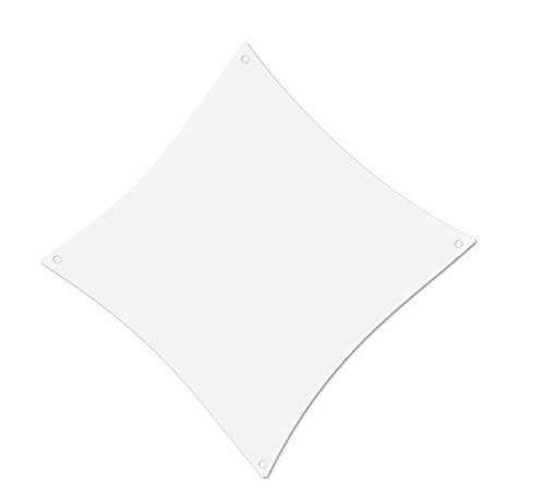 ALOHA Sonnensegel mit UV Schutz wasserabweisend Windschutz wetterschutz Garten und Terrasse (Weiß, Quadrat 2x2m)