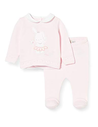 Chicco Baby-Mädchen Completo Bimba 2 Pezzi In Tricot: Coprifasce + Ghettina Playsuit, Pink (Rosa 011), 44 (Herstellergröße: 050)
