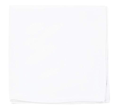 The Tie Bar 100% White Cotton Pocket Square