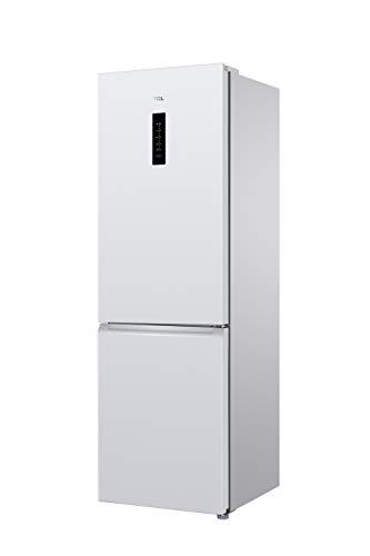 TCL RB315WM1110 Kühlschrank/A+/Höhe 185cm/306L/Total No-Frost/Kombi-Kühlschrank & Gefrierschrank/Digitale Anzeige, Weiß