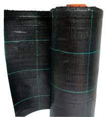 Italfrom Toile de paillage quadrillée en tissu polypropylène indéchirable, noir, 10 x H. 0,50 m