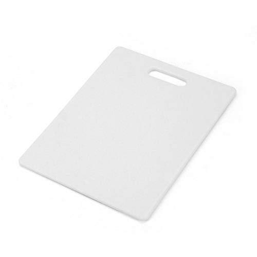 Farberware Tabla de corte plástica para uso general, Blanco, 20.32 cm x 25.4 cm, 1