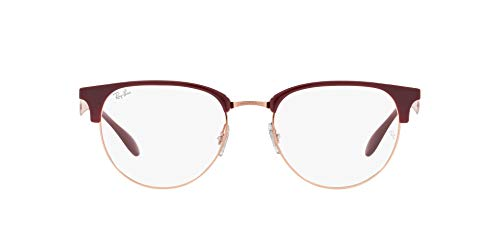 Ray-Ban 0RX6396 Gafas, RED CHERRY, 53 Unisex Adulto