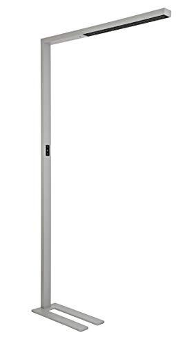 MAUL Stehlampe, MAULsirius mit Bewegungsmelder, LED Stehleuchte dimmbar, Tageslichtsensor, Büro-Stehleuchte, Bürolampe, Arbeitsplatzlampe, Standleuchte, 8750 Lumen, 8259295