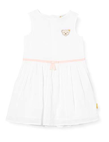 Steiff Kleid Robe, Blanc (Bright White 1000), 3 Ans Bébé Fille