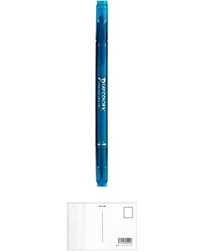 トンボ鉛筆 水性サインペン プレイカラーK ターコイズブルー WS-PK84 【5本】 + 画材屋ドットコム ポストカードA