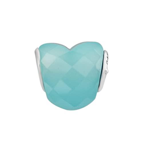 Pandora 925 Sterling Silberform der Liebesperle Hellblau für Perlen Charms Ilver Original Perles diy Liebesschmuck