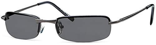 FEINZWIRN sportlich elegante Sonnenbrille Irvillac mit Flexbügeln für schmale Köpfe + Brillenbeutel - Agent Smith Sonnenbrillen