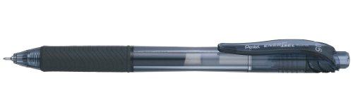 Pentel - Bolígrafo Energel retráctil con punta de aguja. Escritura en color negro.