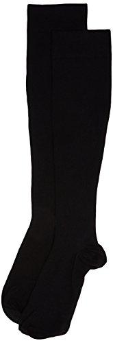 Sanyleg - Unisex-Kniestrümpfe aus Baumwolle mit abgestufter Kompression, Hoher Komprimierungsgrad, Farbe Schwarz, Größe L