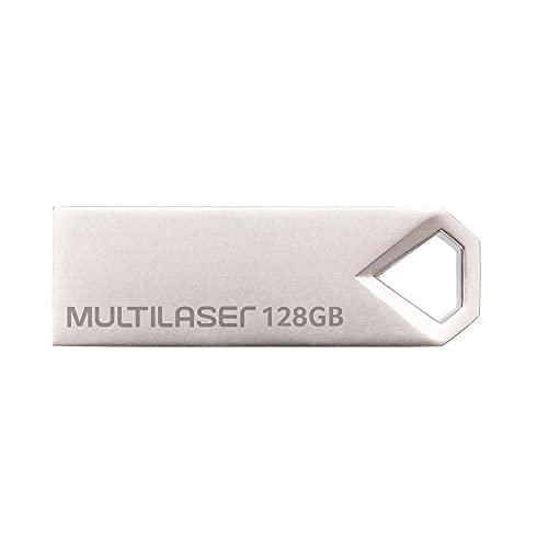 Pendrive Multilaser Diamond 128GB USB 2.0 Leitura 10mb/S e Gravação 3mb/S Metálico - PD853
