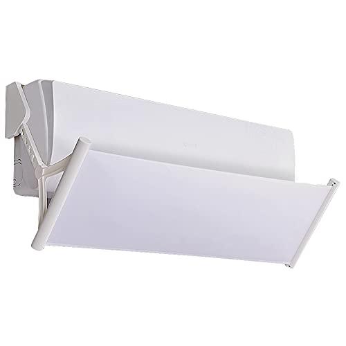 Deflettore per climatizzatore (bianco) Coperchio deflettore aria condizionata parabrezza scalabile